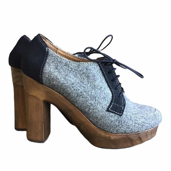 Cubana's Anthropologie Platform Oxfords Shoes